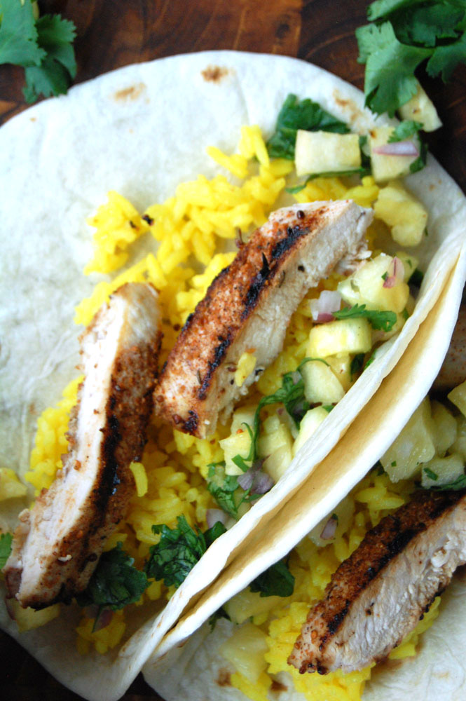 jerk chicken tacos with pineapple salsa print ingredients pineapple ...