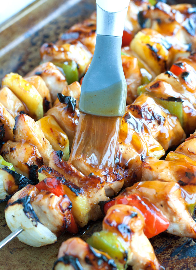 Kung Pao Chicken Skewers Recipe — Dishmaps
