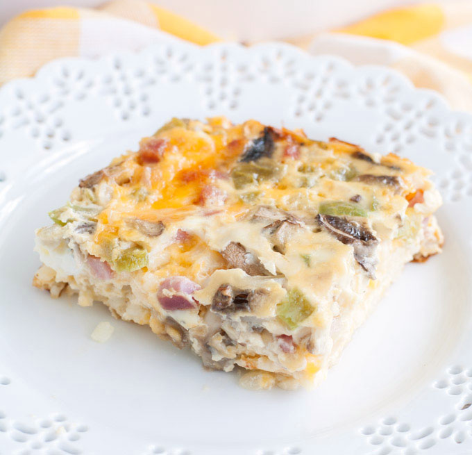 Western Sweet Dishes Recipes: Ham And Cheese Omelet Casserole Recipe