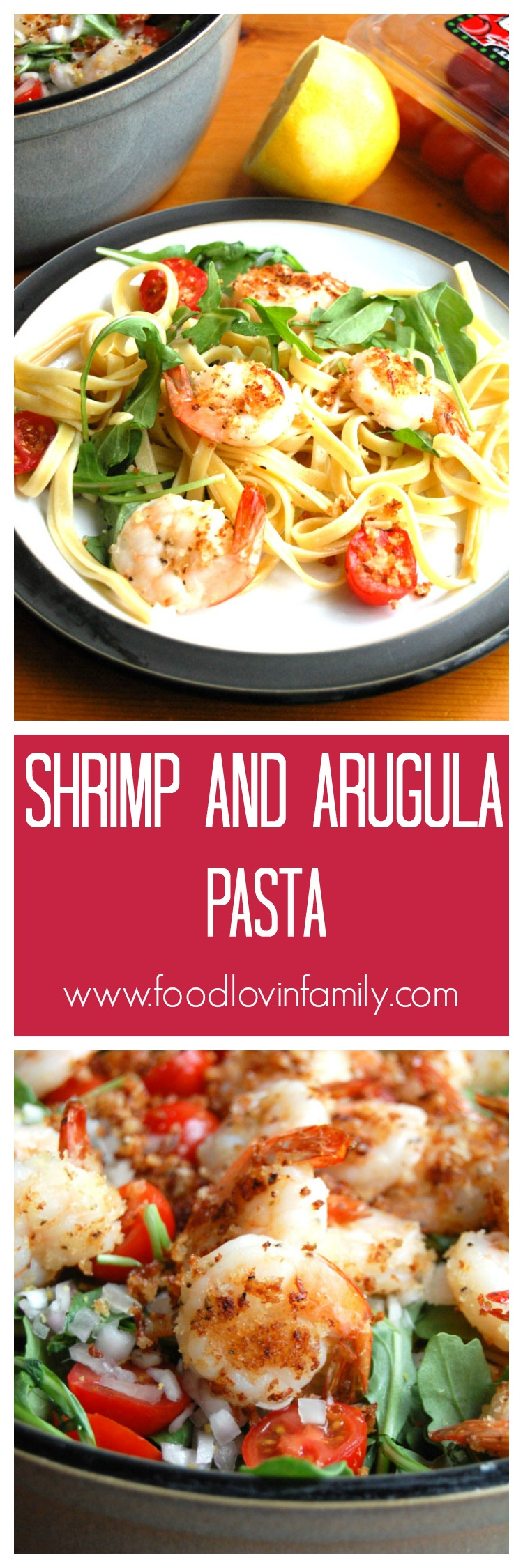Shrimp and Arugula Pasta makes quick and healthy meal.