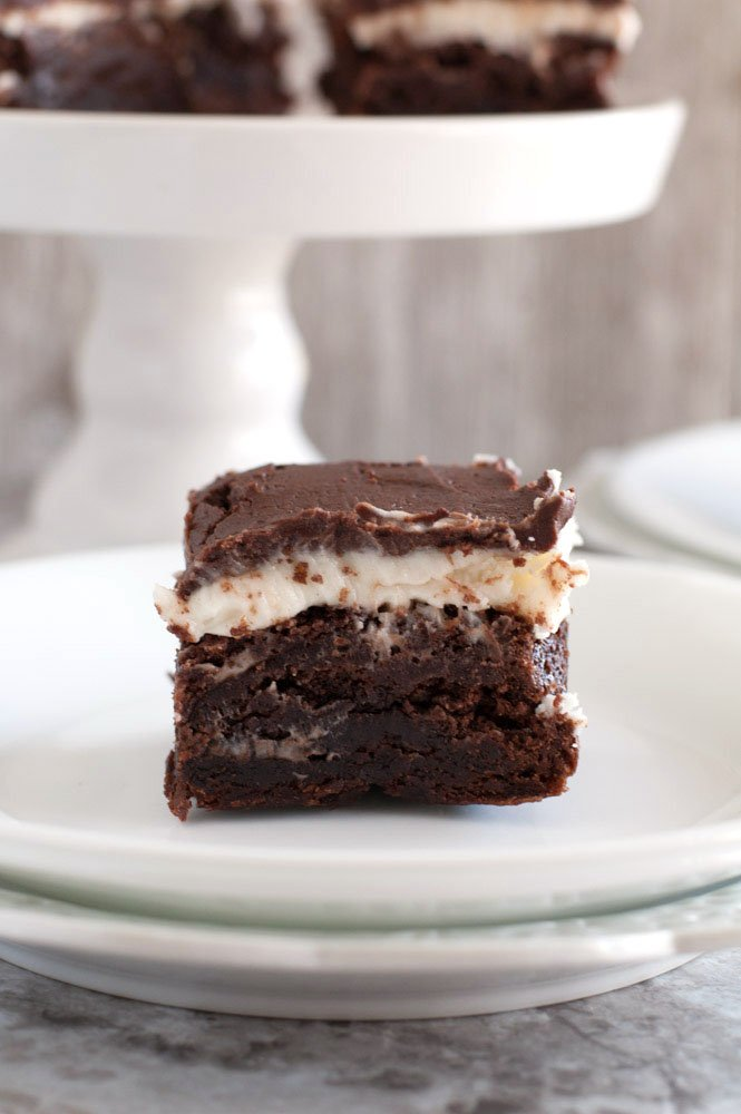 Amaretto Brownie on a plate