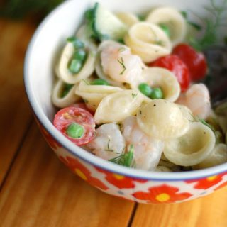orecchiette and shrimp
