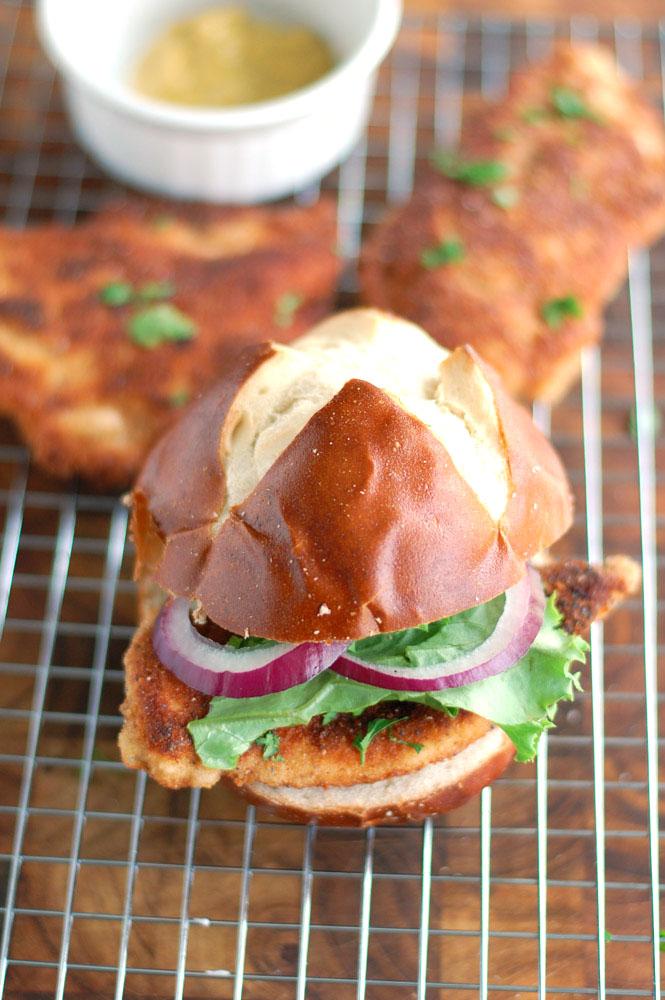 chicken schnitzel sandwich