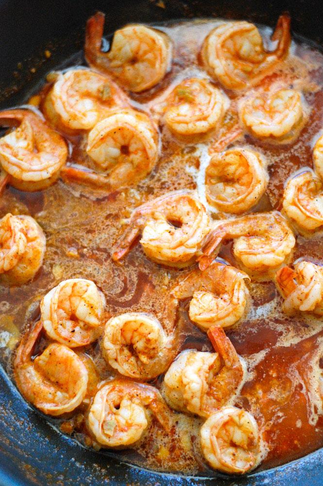 BBQ Shrimp in sauce
