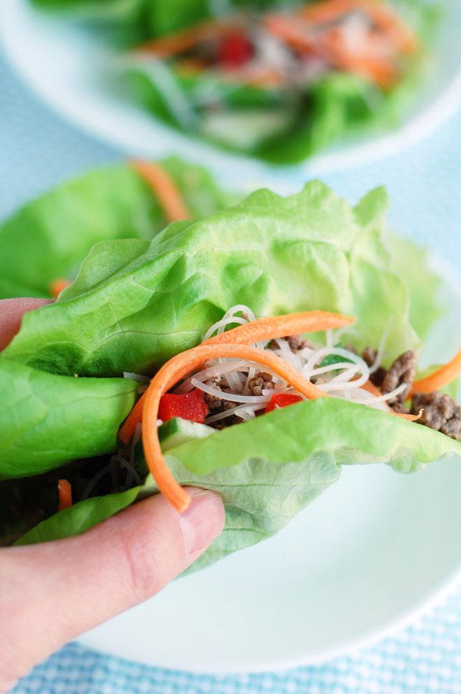 how to prepare boston lettuce for lettuce wraps