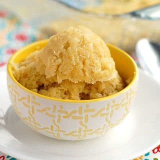 Sweet Corn Cake in a bowl