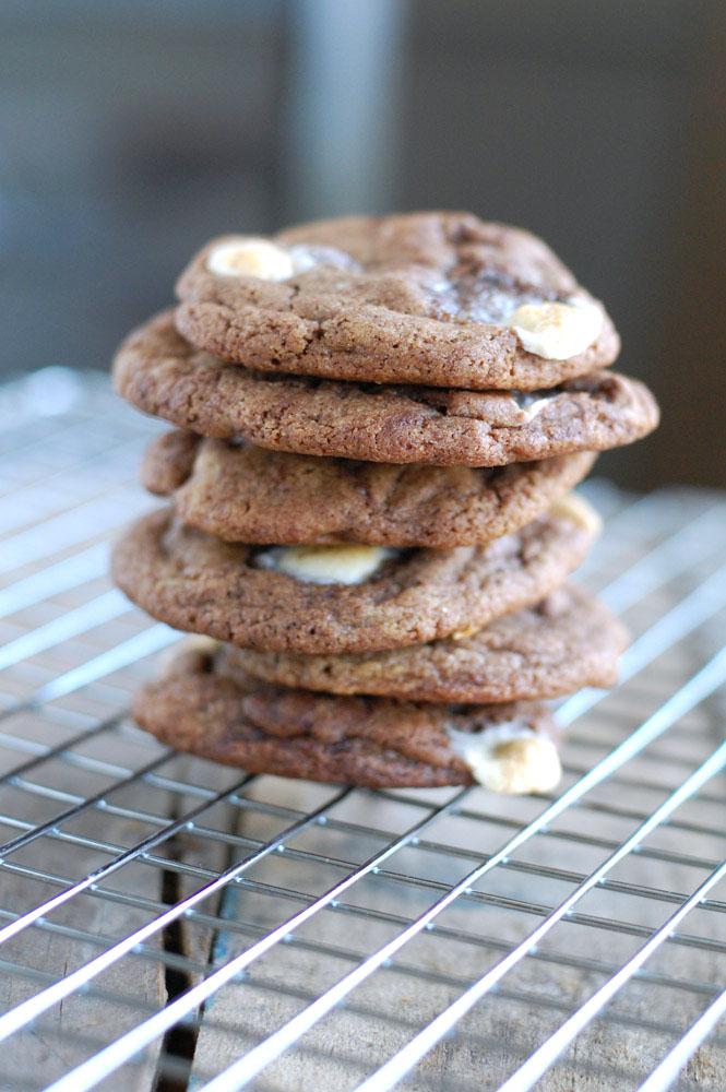 Mexican Hot Chocolate cookies stacked