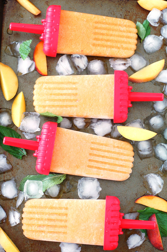 Hawaiian Pasta Salad and Sweet Tea Peach Popsicles are perfect additions for your summer backyard BBQ.