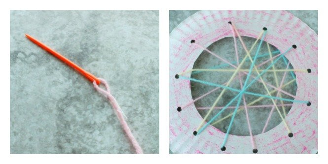 This DIY Dream Catcher is a wonderful craft for young kids to hang in the bedroom and catch their sweet dreams.