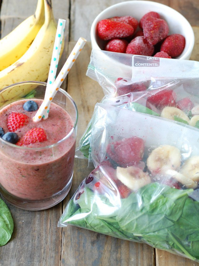 These Freezer Smoothie Packs make a quick, healthy breakfast to start your day.