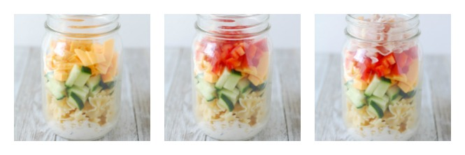 how to make mason jar pasta salad