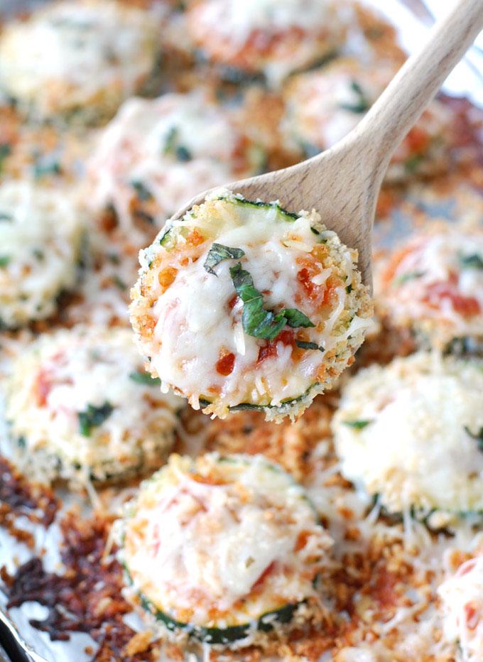 sheet pan Zucchini Parmesan