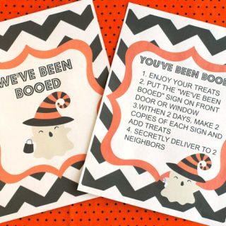 Rice Krispies Treat Ghost and Free Boo Basket Printable