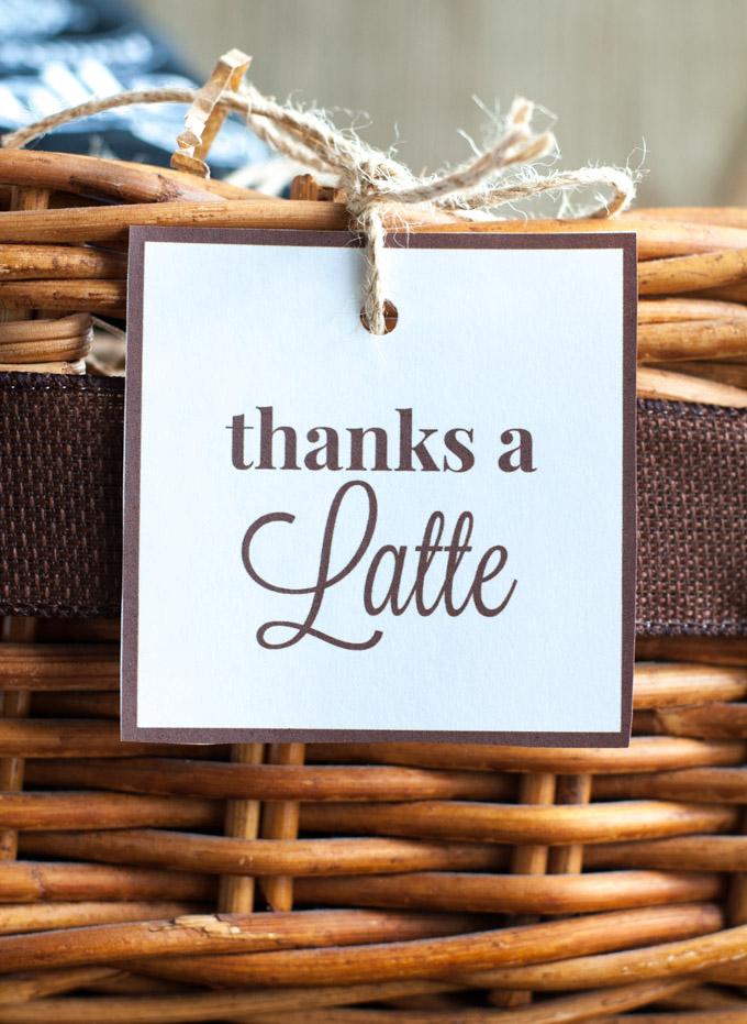 Caramel Latte with Thanks A Latte Gift Basket