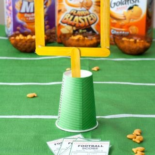 Easy Game Day Craft Stick Field Goal Goldfish Crackers Game