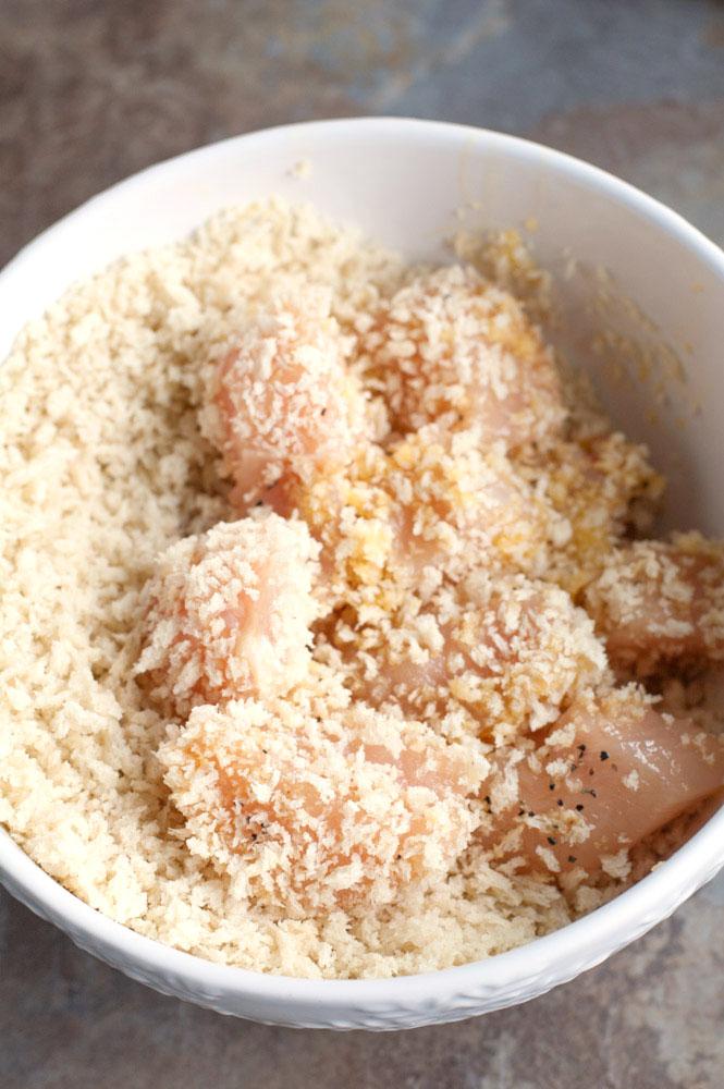 Chicken in panko crumbs