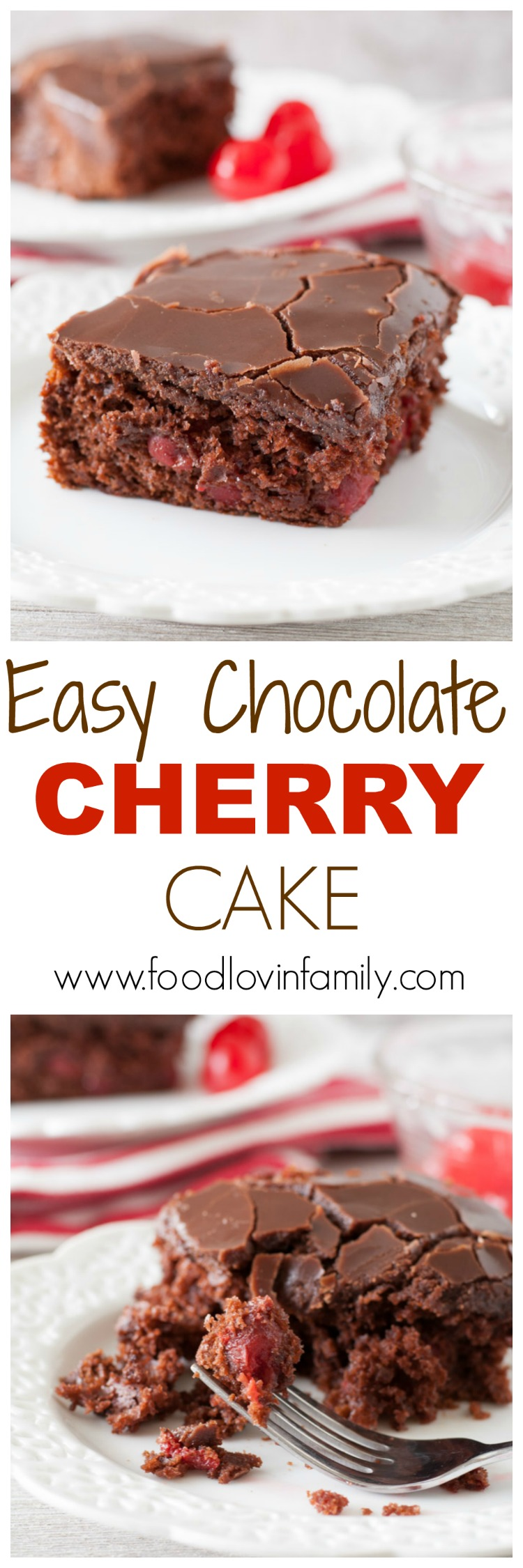 Easy Chocolate Cherry Cake - Food Lovin Family