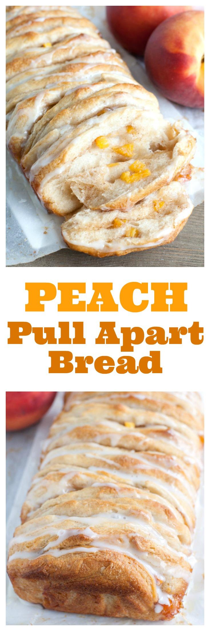 peach pull apart bread PIN