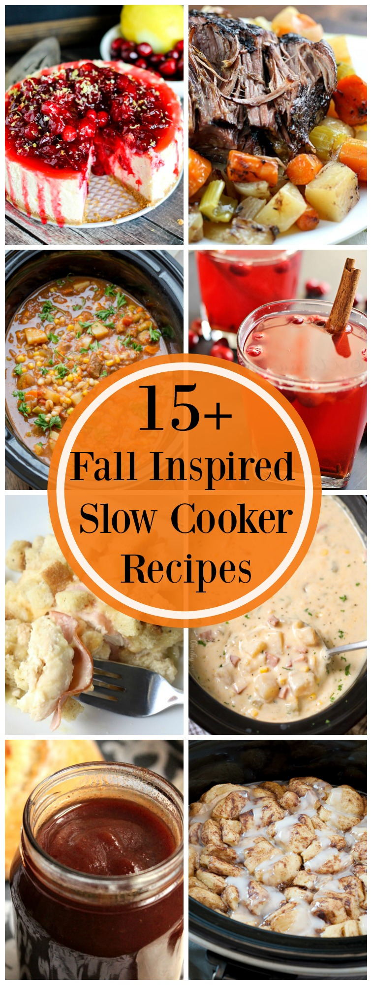 15+ Fall Inspired Slow Cooker Recipes are a great way to celebrate the season. Great comfort food perfect for the Fall and Winter. #crockpot #slowcooker #comfortfood
