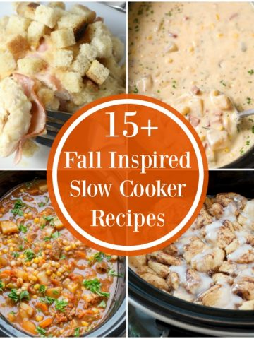 Slow cooker meals collage.