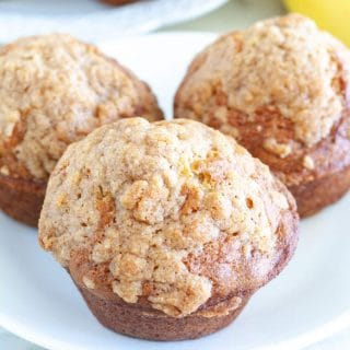 Banana Bread Muffins on a plate