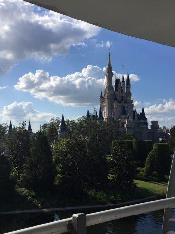 A view Disney castle.