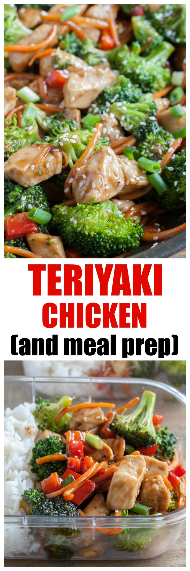 Teriyaki Chicken with vegetables. A quick and easy meal made with homemade teriyaki sauce. #teriyakichicken #chickenteriyaki #teriyaki