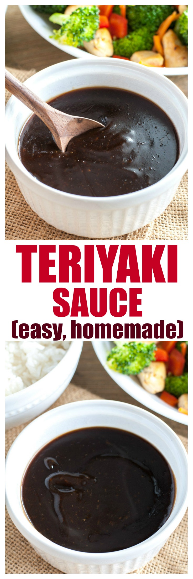 Teriyaki Sauce is easy to make at home with a few simple ingredients. This flavorful sauce can be used to prepare your favorite take-out meals like chicken teriyaki. #teriyakisauce #teriyaki #chickenteriyaki