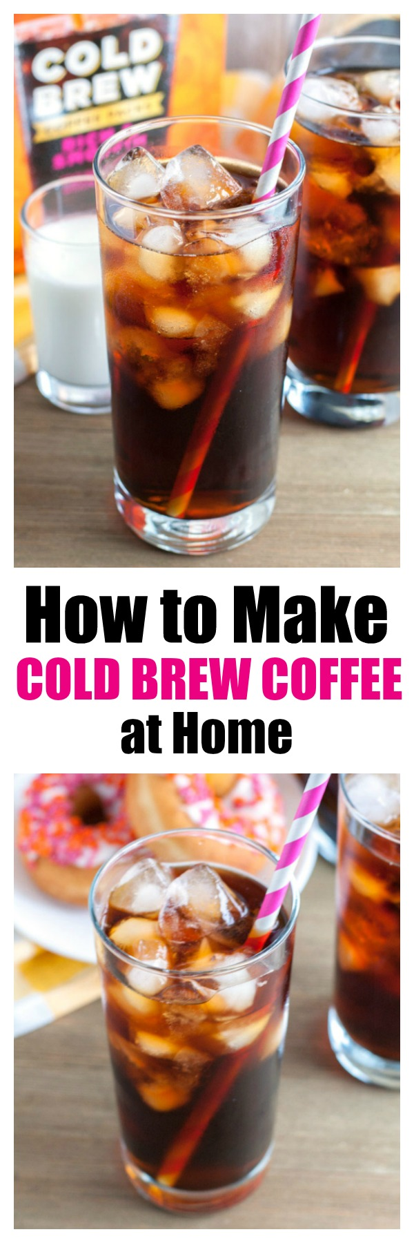Making cold brew coffee at home is as easy as 1-2-3 with Dunkin' Donuts Cold Brew Coffee Packs. #ad #DunkinYouBrewYou @walmart #coldbrewcoffee #coffee