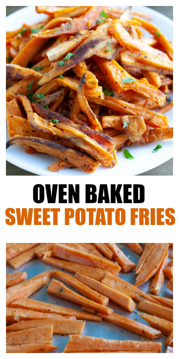 Easy baked sweet potato fries. A delicious and simple side dish. #ad #sweetpotato #sweetpotatofries @pultehomes #pultehomes #pultesmarthome