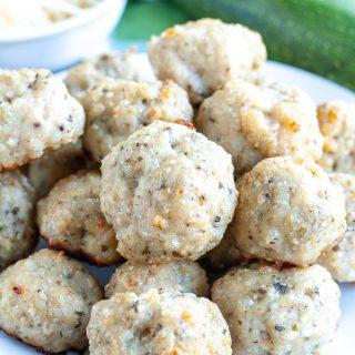 Parmesan Pesto Chicken Meatballs