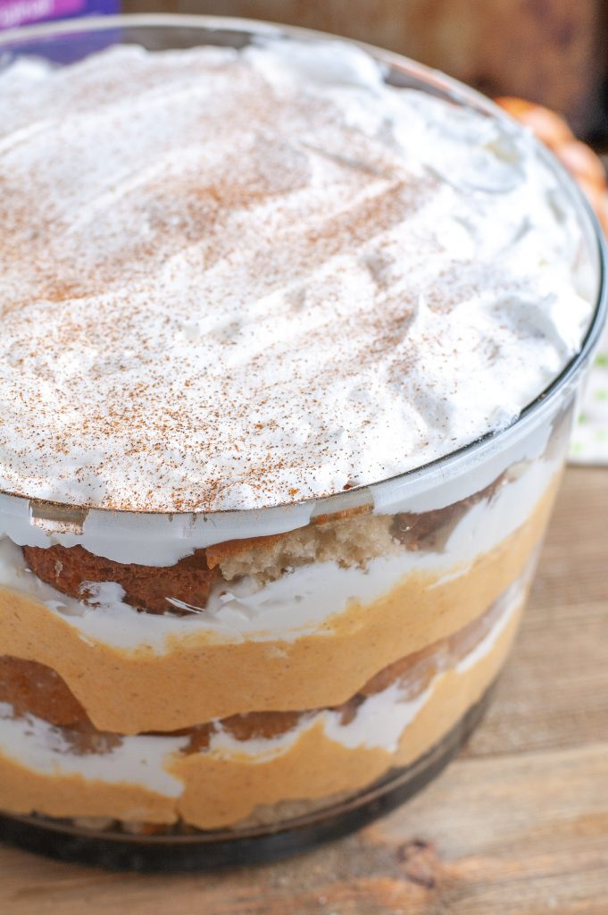 Pumpkin Chai trifle in a bowl