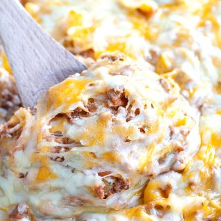 Cheesy Beef and Noodle Casserole