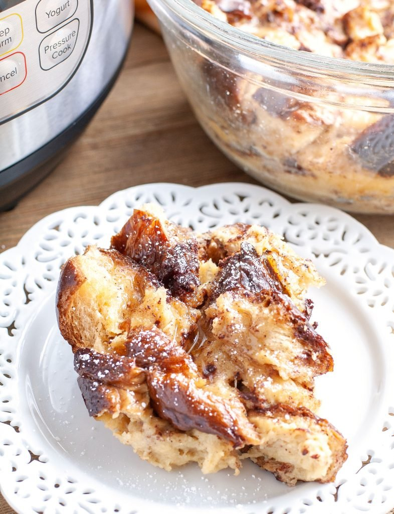 Instant Pot French Toast Casserole on a plate