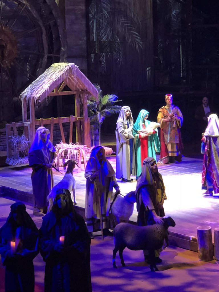 Christmas show nativity scene