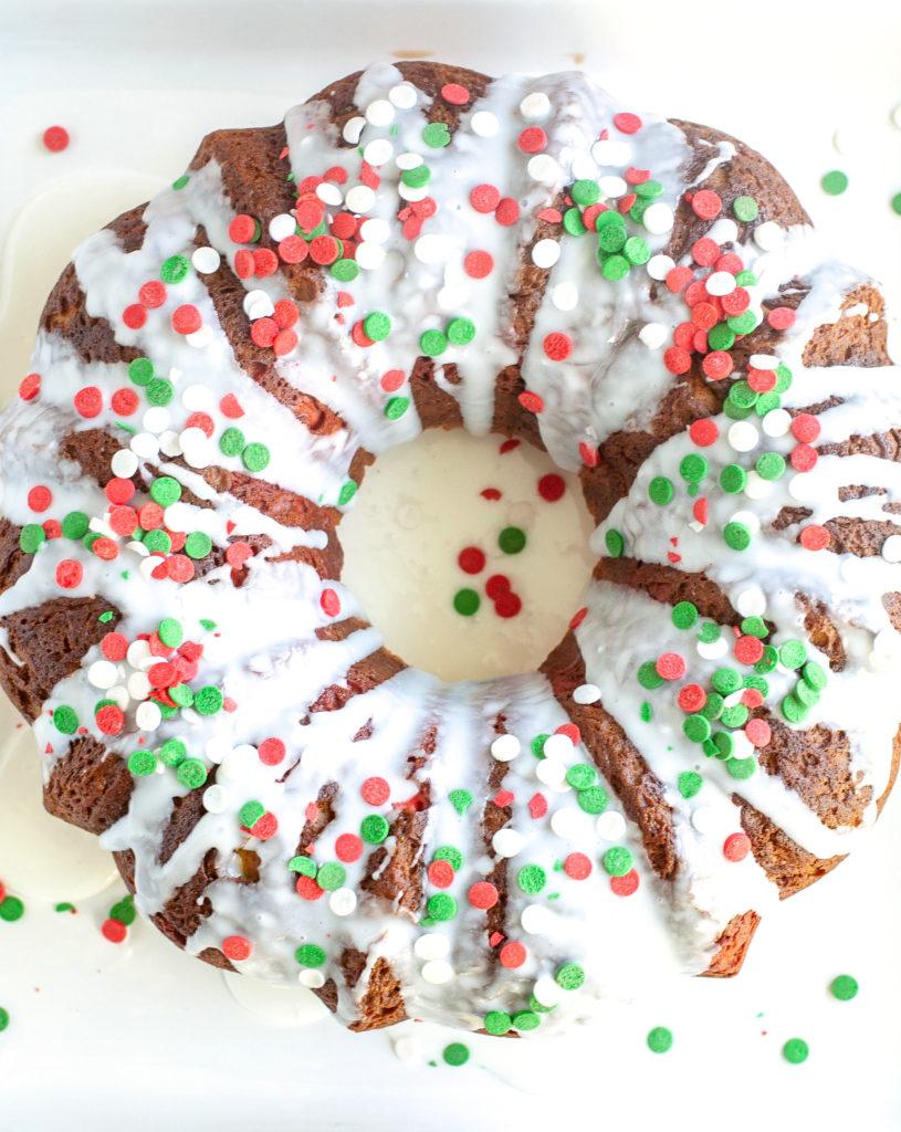 Bundt cake on a plate