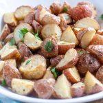 Bowl of roasted potatoes.