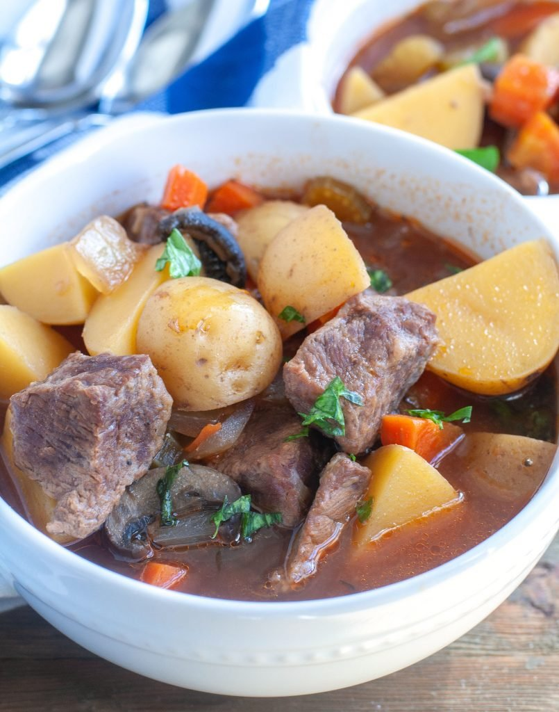 Slow Cooker Beef Stew in a bowl