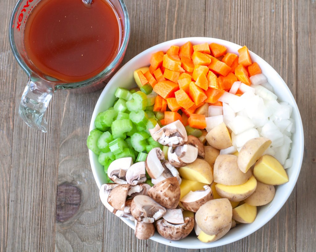 Ingredients for slow cooker beef stew