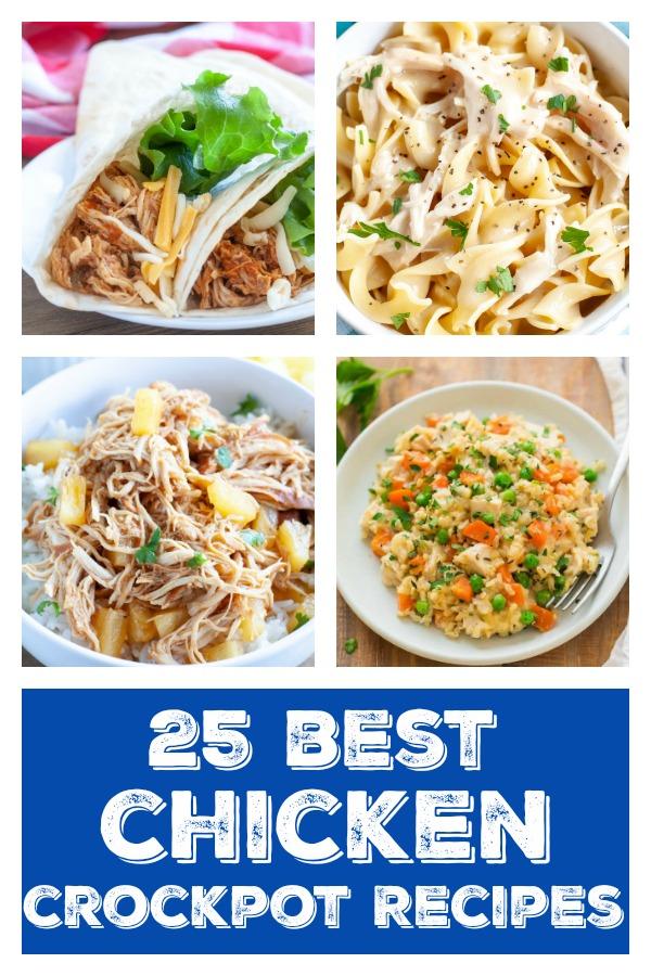Pinterest image of best chicken crockpot recipes