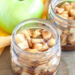 Jar of apple pie filling.