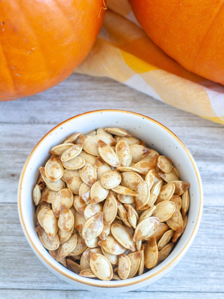 Roasted Pumpkin Seeds in a bowl