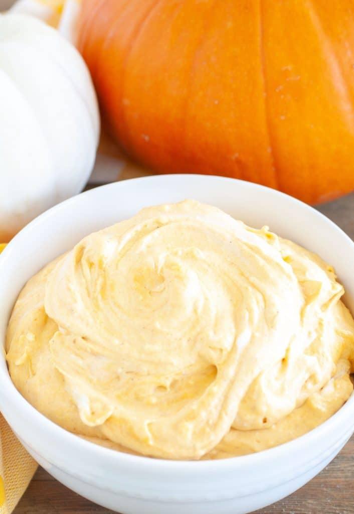 Bowl of pumpkin dip