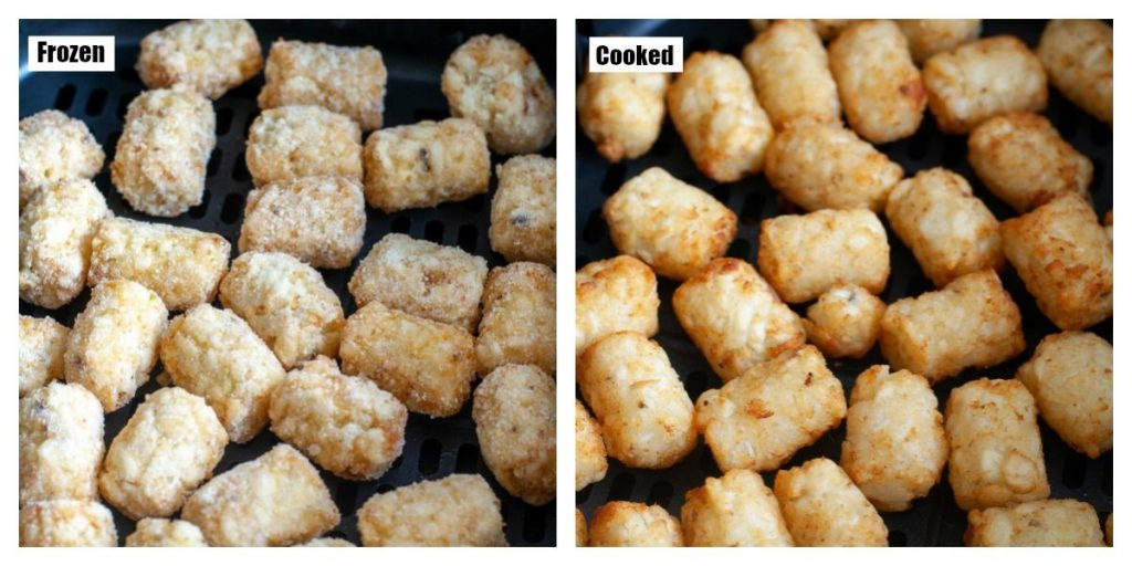 Frozen tator tots and cooked