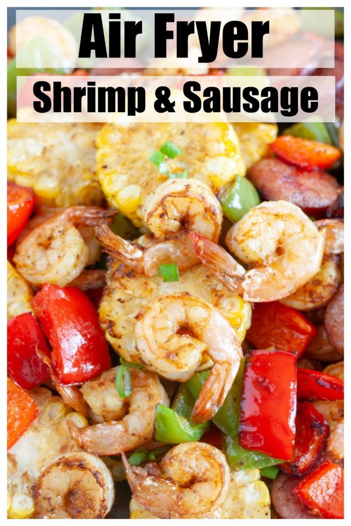Shrimp Sausage Peppers and Corn