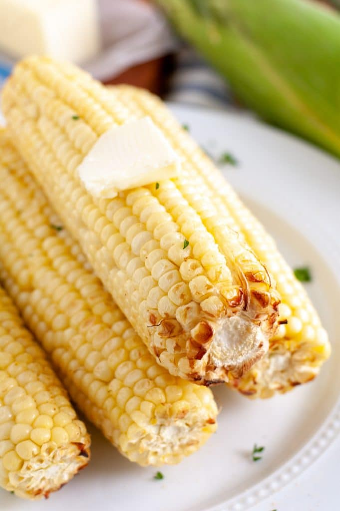 corn on the cob with butter on top