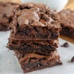 Brownies stacked on each other