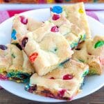cookie bars on a plate