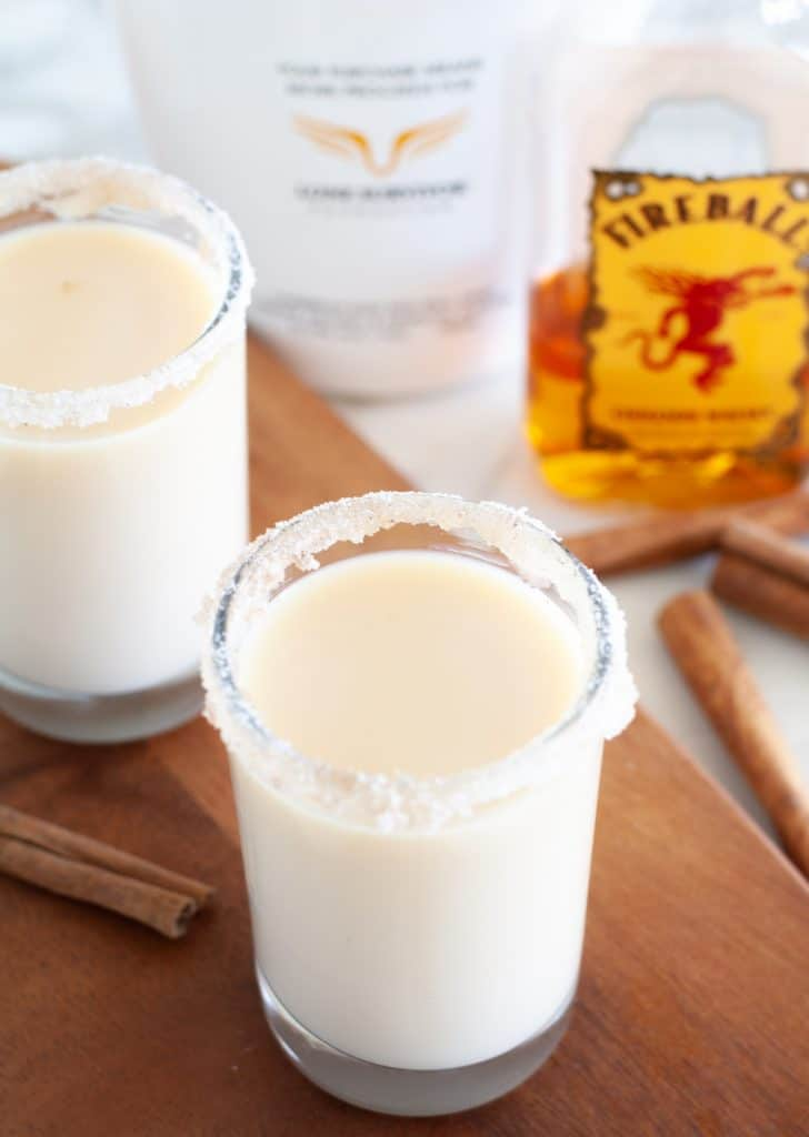 shot glass with rumchata with fireball