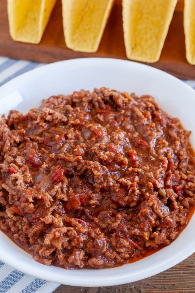 ground beef in a bowl